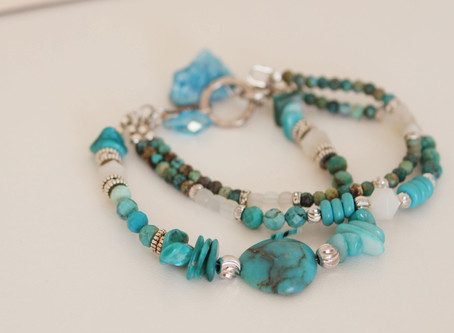 Vivid green/blue turquoise for a fabulous summer vibe