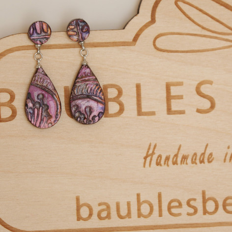 Pink Polymer Clay Earrings