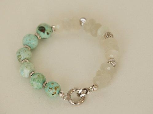 Turquoise Moonstone Bracelet Medley