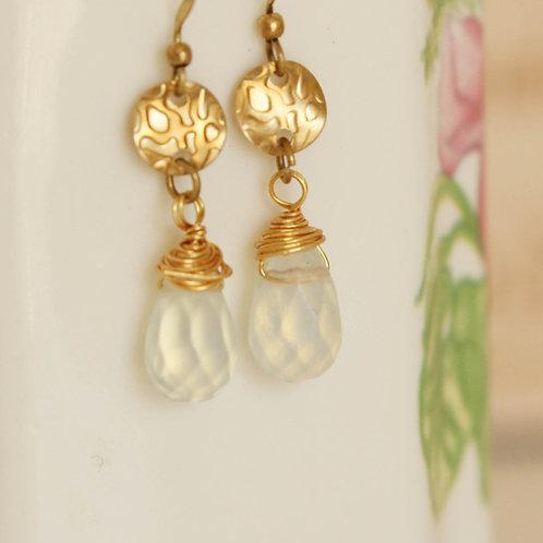 Wire-Wrapped Brass Earrings