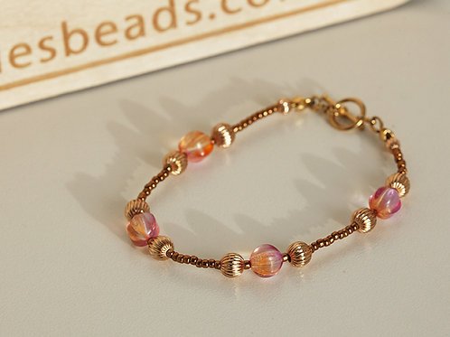 Rose-Gold Wedding Bracelet