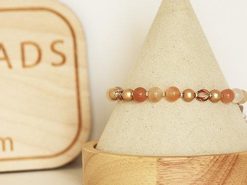 Moonstone Boho Bracelet (6 mm)