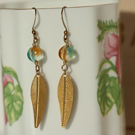Cute Copper Boho Earrings