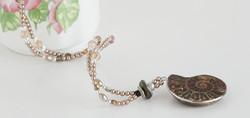 Golden Swarovski pearls
