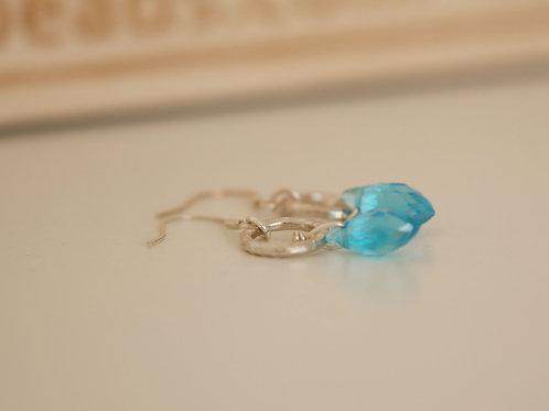 Teal Blue Sterling Silver Earrings
