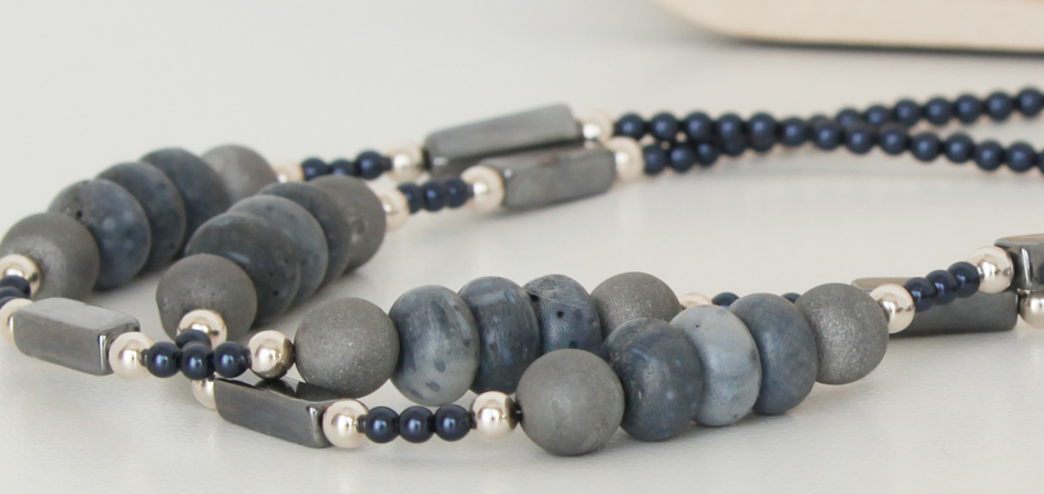 Blue Coral Stones