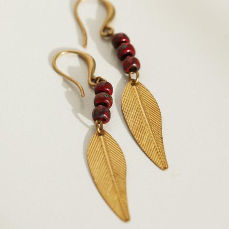 Boho Hippie Leaf Earrings