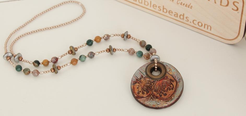 Boho Necklace with Mandala Pendant