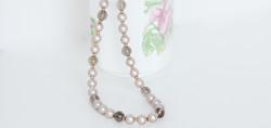 Smoky Quartz with Swarovski Pearls