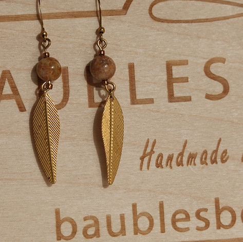 Copper Fossil Earrings