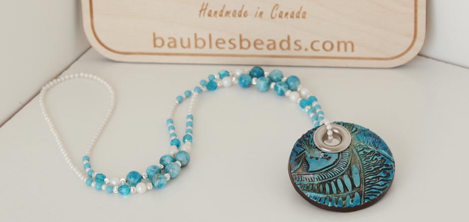 Beaded Boho Necklace & Apatite Gems