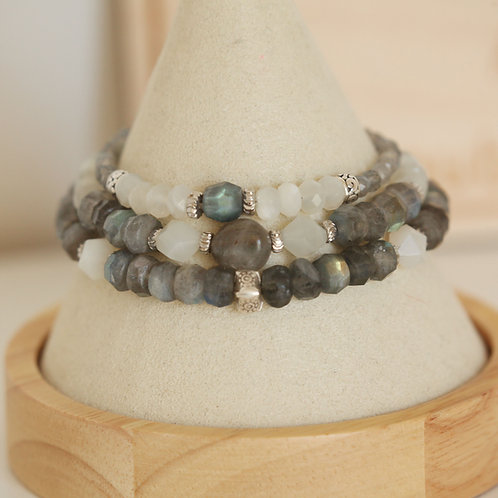 Labradorite & Moonstone Bracelet