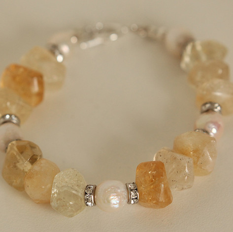 Citrine and Ripple Pearls