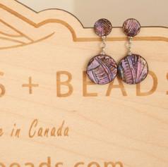 Pink Handmade Clay Earrings