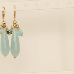 Aquamarine Boho Earrings