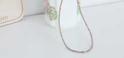 Dainty moonstone necklace coupled with swarovski pearls