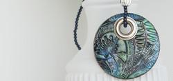 Blue Boho Hand-Painted Mandala