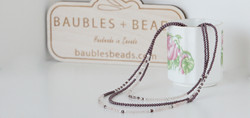 Rose Quartz Necklace with three strands of swarovski pearls, rose quartz crystals and sterling silve