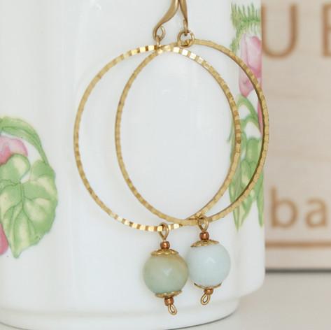 Hanmade copper wire earrings