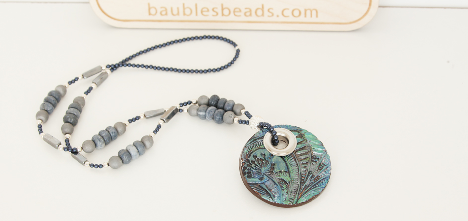 Blue Coral Boho Necklace