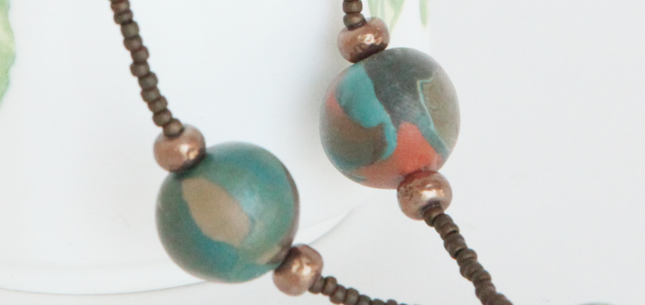 Earthy-toned Beads