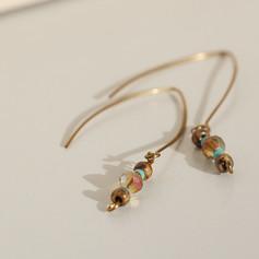 Boho Crystal Copper Earrings