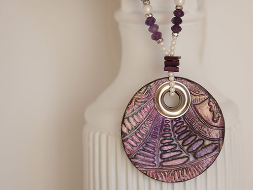 Handmade Statement Necklace Amethyst