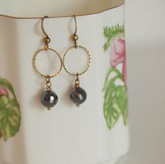 Glittering Boho-Chic Brass Earrings