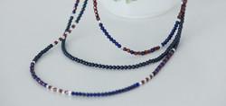 Lapis Lazuli Necklace with Swarovski pearls