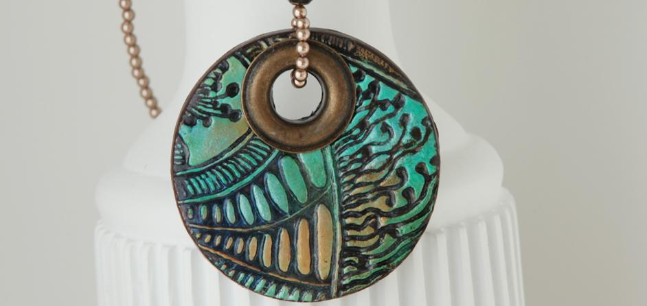 Green Mandala Statement Necklace