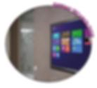 cloisons tactile interactive - écran tactile grand format