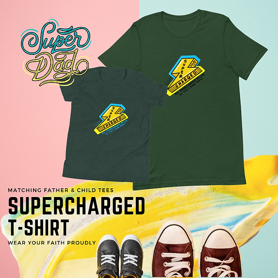 father and child tee supercharged layfla