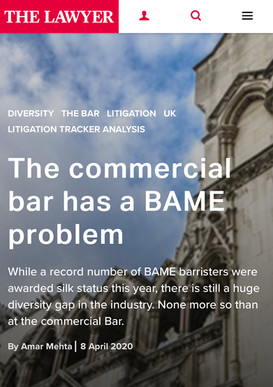 The Lawyer: The commercial bar has a BAME problem