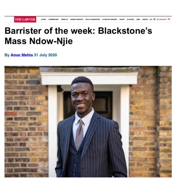 The Lawyer: Barrister of the Week Award