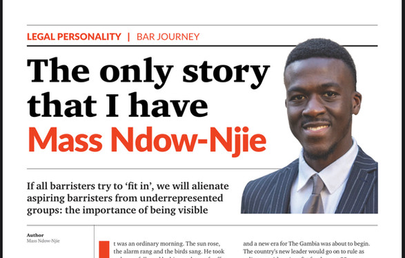 Counsel Magazine: The Only Story that I have