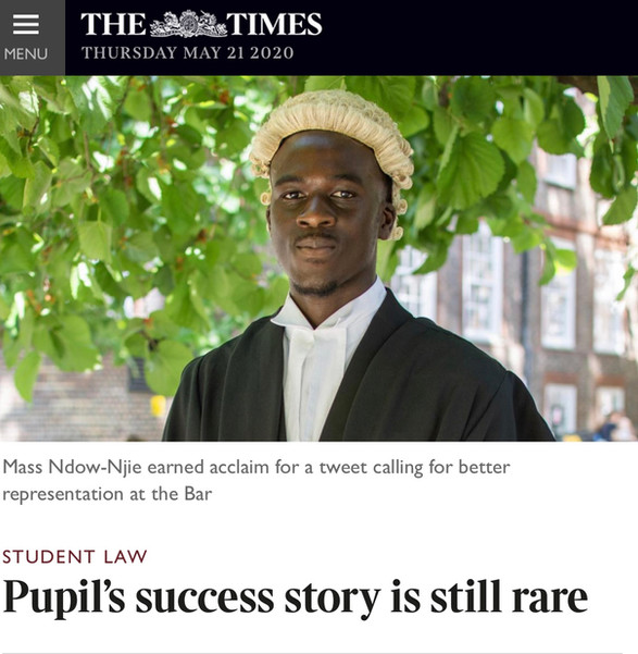 The Times: Pupil's success story is still rare