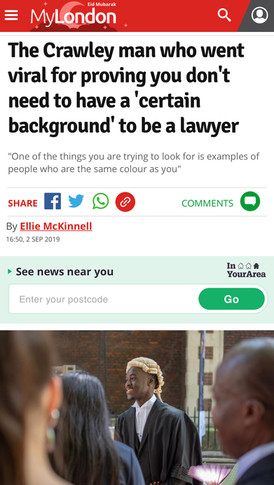 My London: The Crawley man who went viral for proving you don't need to have a 'certain background' to be a lawyer