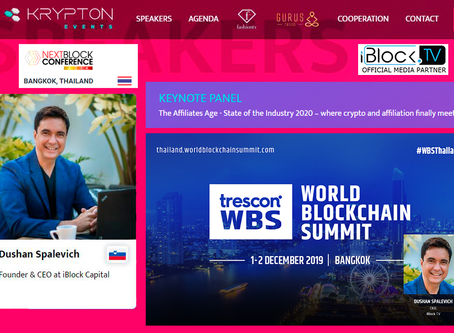 iBlock TV CEO Dushan Spalevich at Thailand Blokchain Week