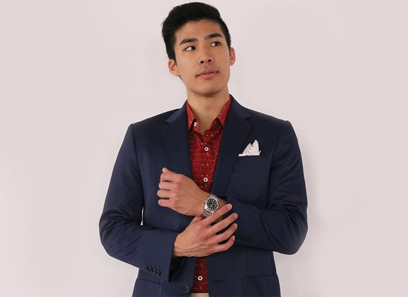 Tailored Navy Suit in Singapore