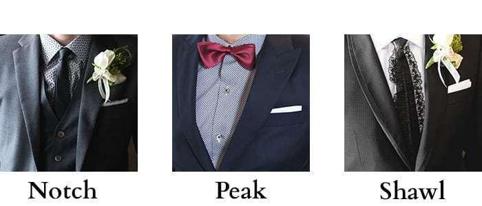 Different types of suit lapels