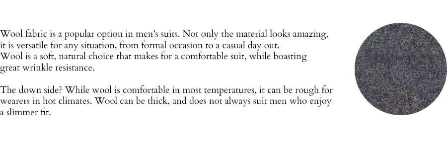 Wool suit description