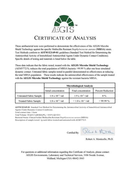 Ashield disinfectant spray MRSA test res