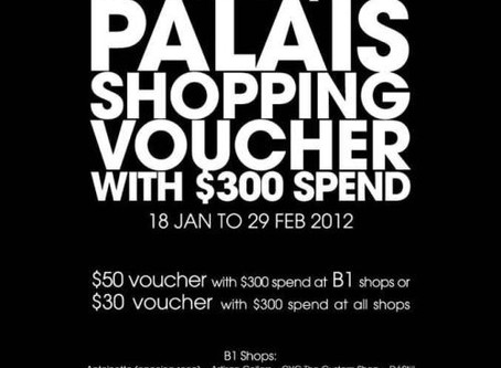 Special Promotion, Only at CYC Palais Renaissance