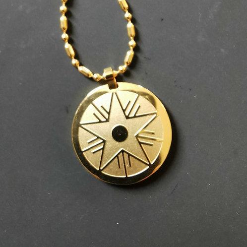 Étoile de la paix or — Vue devant