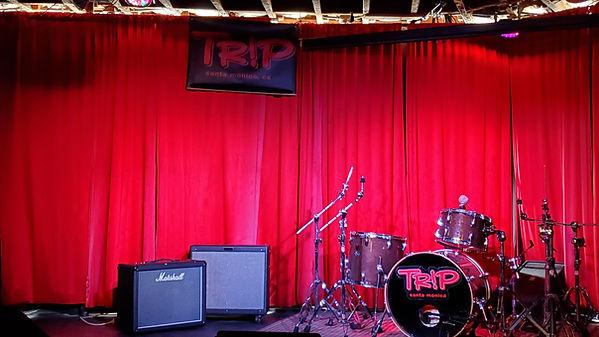Trip's Stage Shot, drum kit amps