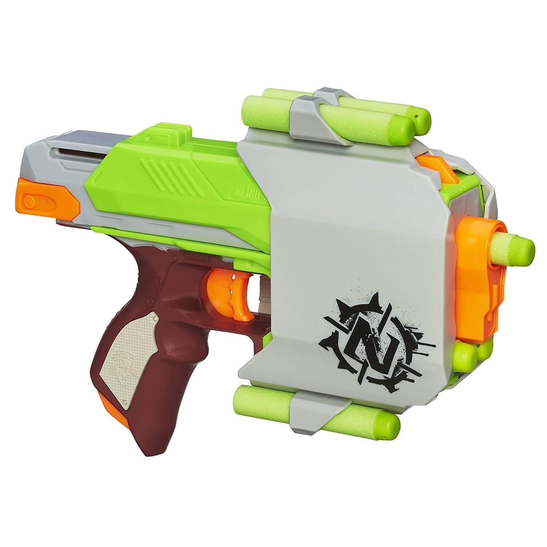 Nerf-Zombie-Strike-Sidestrike-Blaster-Gu