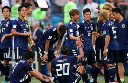 決勝トーナメント進出を決めた日本代表選手
