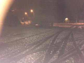 美瑛で初雪