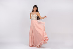 Prom N Party, chiffon coral dress