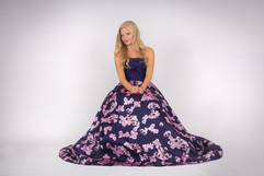 Prom N Party, Navy & pink ball gown